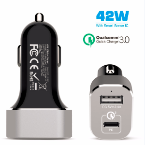 42W USB-C PD car charger