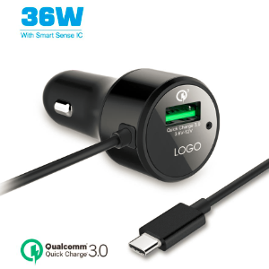 36W PD car charger with cable