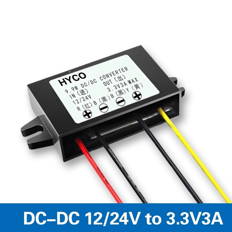 DC12V 24V to 3.3V 1-3A dc to dc step down buck converter with single output