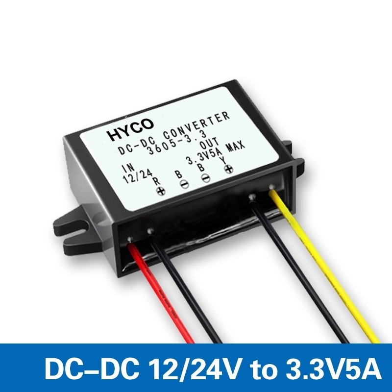 DC12V 24V to 3.3V 5A Step Down DC-DC Power Converter