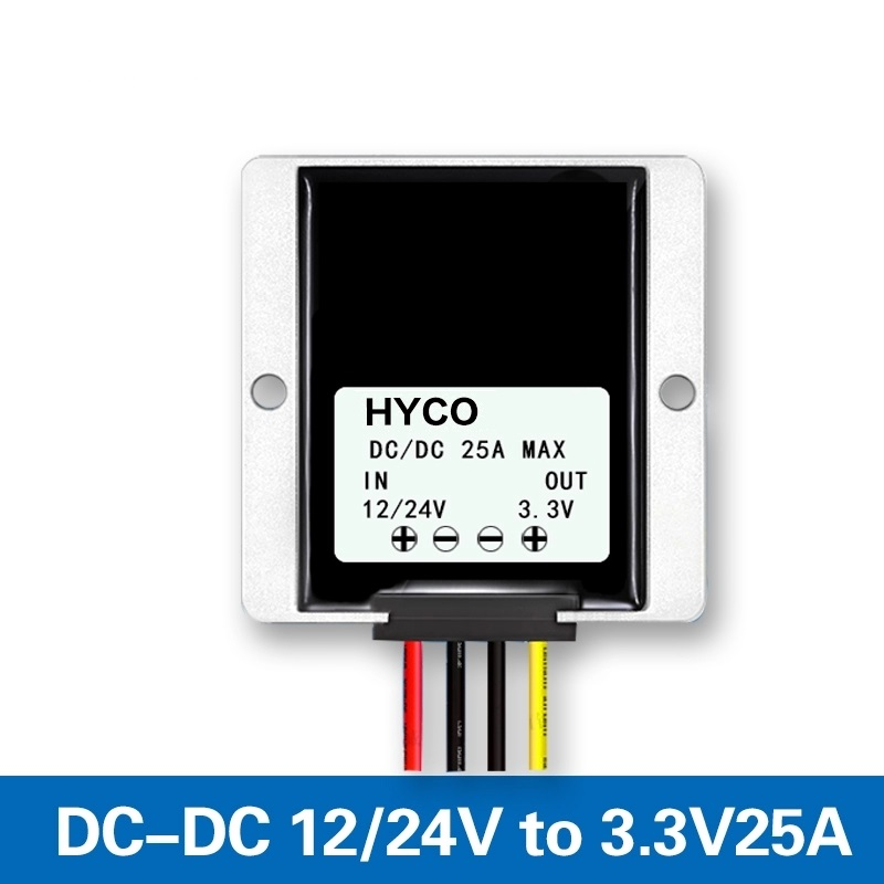 DC 12V 24V to DC 3.3V 25A wide input range voltage regulator