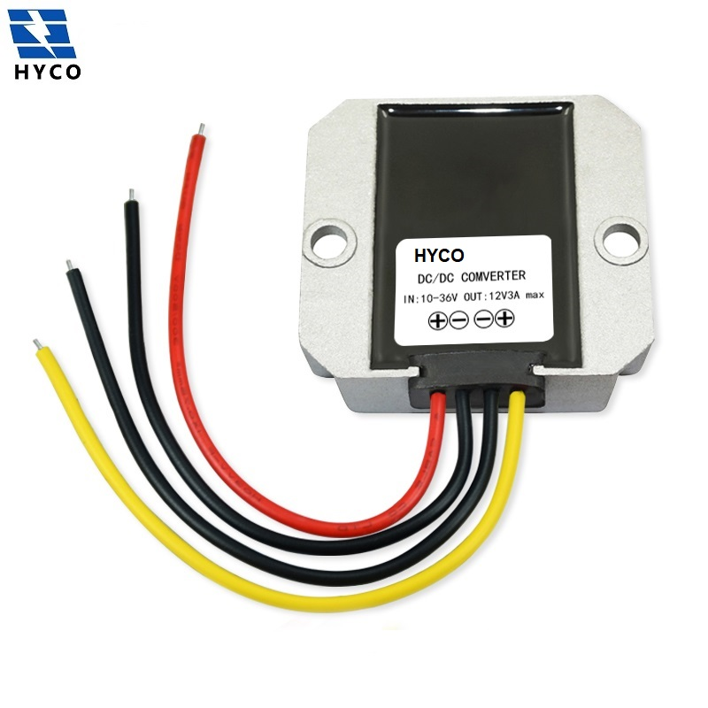 DC 12V (10-36V) to 12V 1A-5A Voltage Regulator Stabilizer DC-DC Buck Boost Automatic Step up Step down Power Supply Transformer
