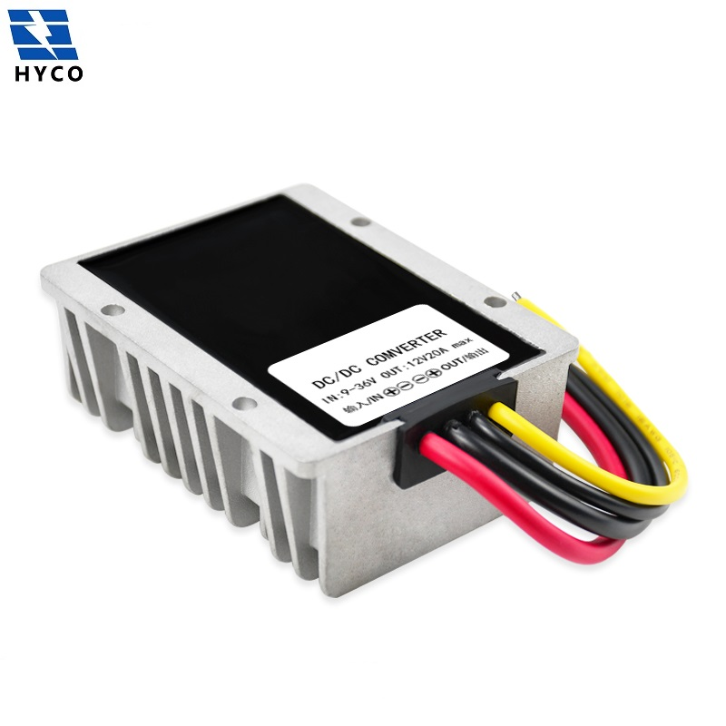 buck boost dc voltage regulator dc-dc converter 24v 12v to 12v 20A 240W for vehicles